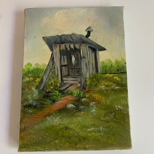 Outhouse Painting On Canvas